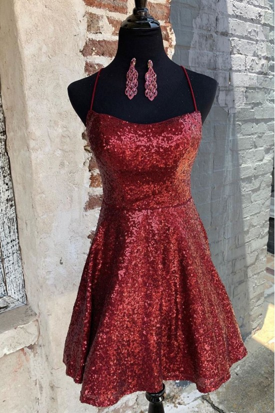 Short Sequins Prom Dress Homecoming Dresses Graduation Party Dresses 701022
