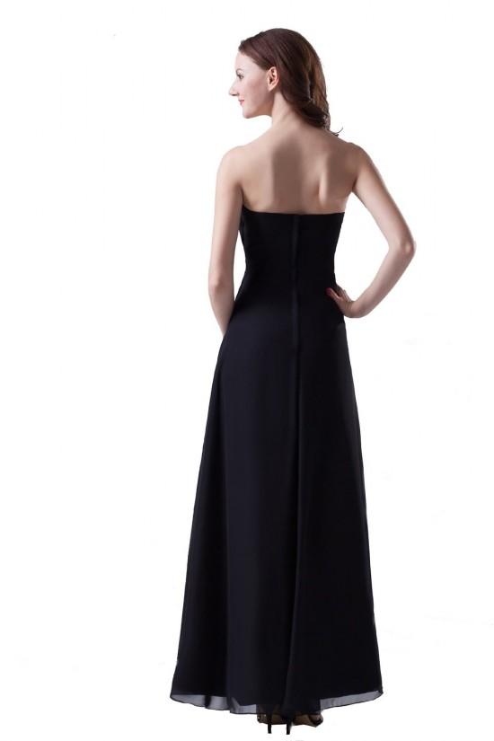 A-Line Sweetheart Long Black Chiffon Bridesmaid Dresses/Wedding Party Dresses BD010119