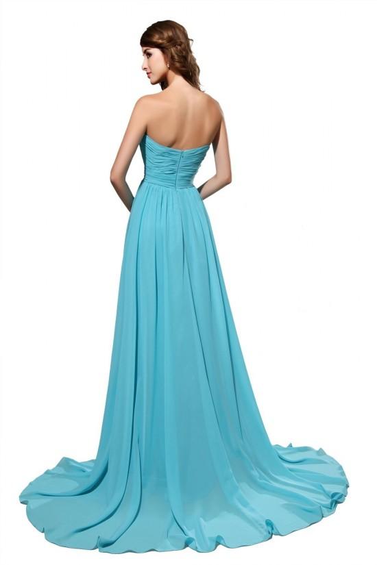 A-Line Sweetheart Long Blue Chiffon Bridesmaid Dresses/Wedding Party Dresses BD010183