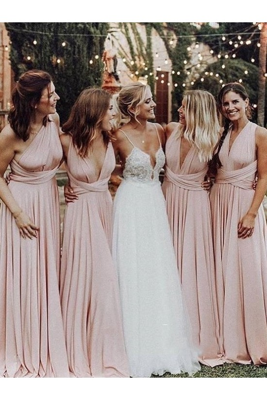 A-Line Long Bridesmaid Dresses 3010406