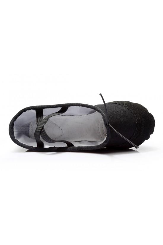 Women's Kids' Black Canvas Dance Shoes Ballet/Latin/Yoga/Dance Sneakers Canvas Flat Heel D601043