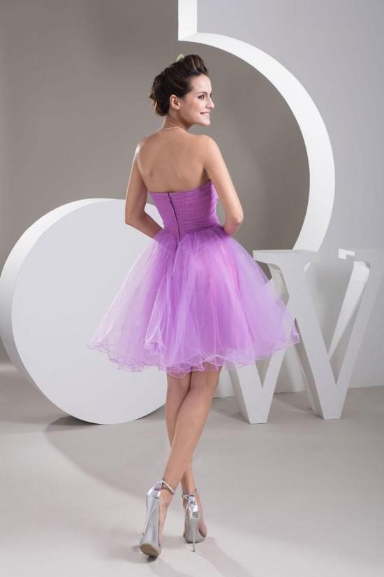 Elegant Sweetheart Beaded Tulle Cocktail Homecoming Dresses ED010795