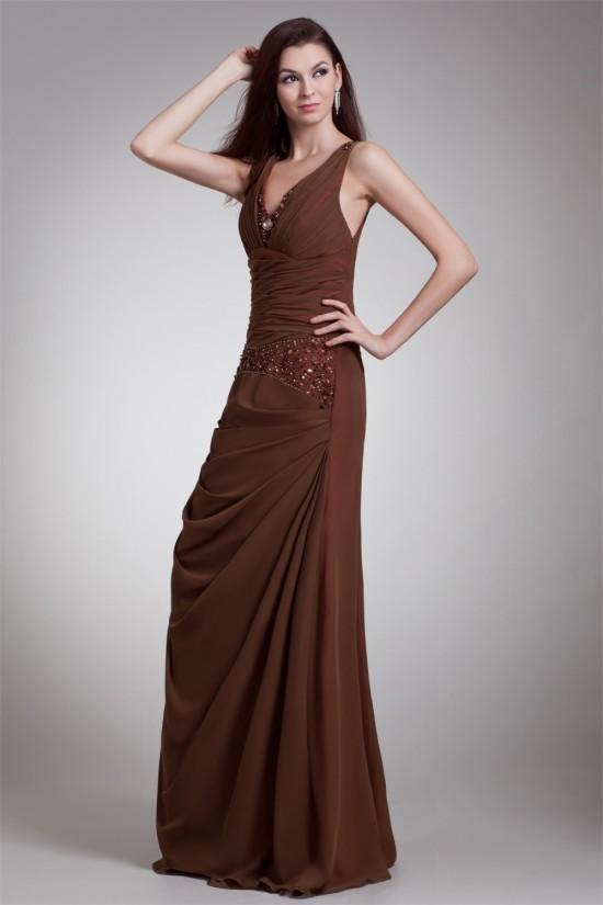 Sleeveless A-Line Chiffon Prom/Formal Evening Dresses 02020852