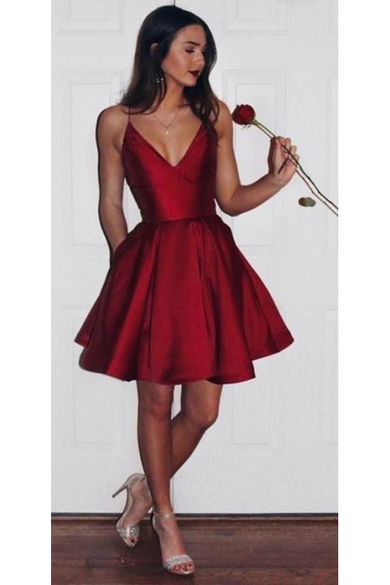 Short V-Neck Prom Evening Formal Dresses 3020726
