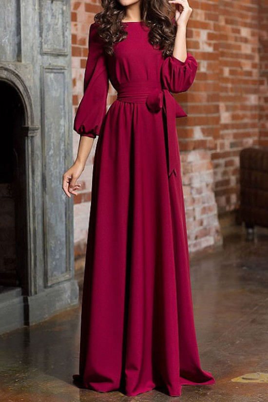 Long Sleeves Mother of The Bride Evening Party Dresses 3020977