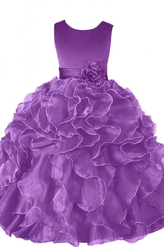 Ball Gown Purple Flower Girl Dresses F010002