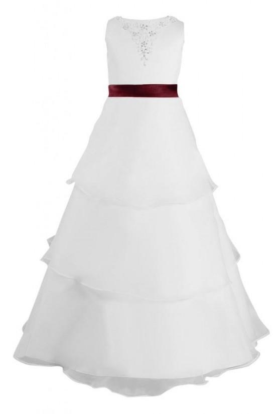 A-Line Beaded Flower Girl Dresses F010005
