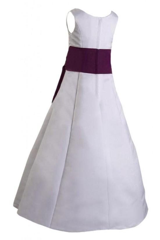 A-Line Beaded Flower Girl Dresses F010008