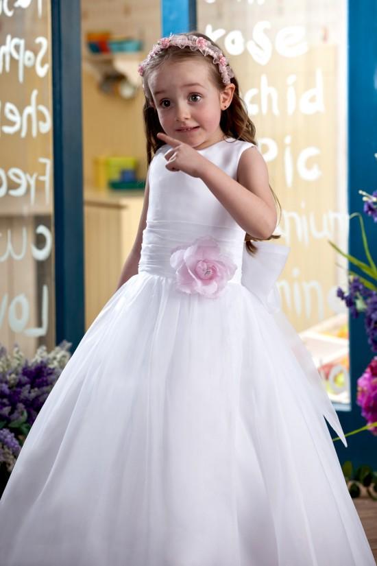 Ball Gown Floor-Length Handmade Flowers Flower Girl Dresses 2050003
