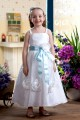 A-Line Spaghetti Strap Ankle-Length Handmade Flowers Flower Girl Dresses 2050004
