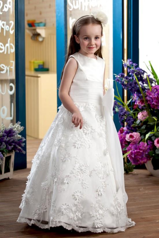 A-Line Floor-Length Lace Flower Girl Dresses 2050005
