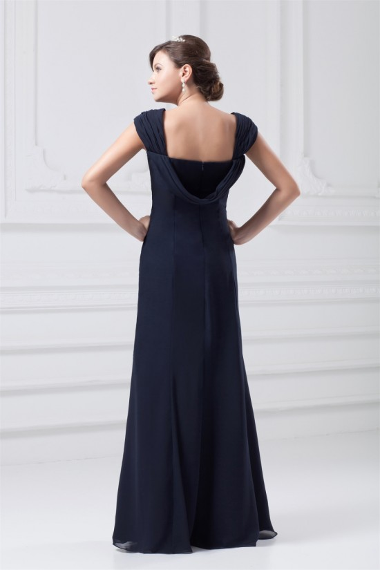 A-Line Pleats Floor-Length Sleeveless Straps Mother of the Bride Dresses 2040178