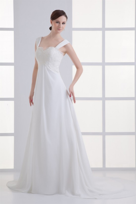 Wonderful Sweetheart Chiffon Lace Sheath/Column Wedding Dresses Maternity Wedding Dresses 2031433