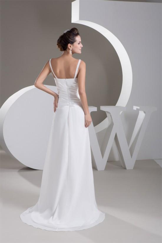 Amazing Sleeveless Chiffon A-Line V-Neck Wedding Dresses 2030582
