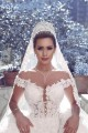 Ball Gown Off-the-Shoulder Lace Keyhole Back Wedding Dresses Bridal Gowns 3030019