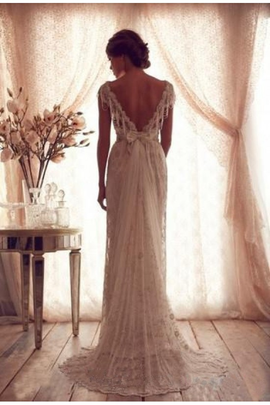 Sheath/Column Lace Wedding Dresses Bridal Gowns 3030271